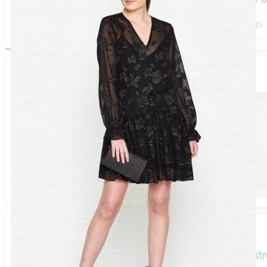 NWT All Saints Alia Black Floral Dress Boho